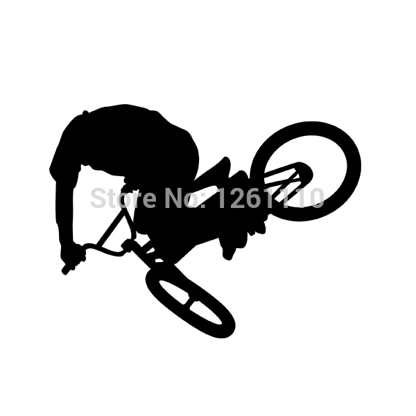 Powerlite Vinyl Decals Bmx Bicycle Racing Freestyle Freestyler Park Street Racing Bikes Stickers For Car Window SUV Truck Bumper(China (Mainland))