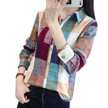 Buy Print Women Blusas T-Shirt Casual Basic T Shirts Long-Sleeved Turn-Down Collar Retro Vintage Vetement Mujer Tunic Femme LJ7120Z for $9.34 in AliExpress store