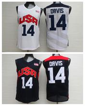 Online Buy Cheap Jerseys, Top Quality,The First Ten Dream Team #14 Anthony Davis Men's USA Basketball Jerseys Hot Sale(China (Mainland))