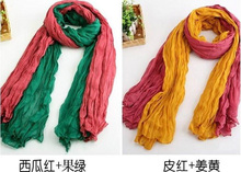 20 Colors 2015 Summer New Designer Solid Casual Scarf Women Cotton Flax Blending Longest Scarves For