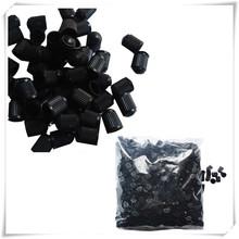 Newly Design 100 Black Plastic Tire Valve Stem Caps May15