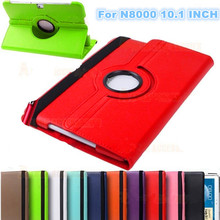 Case For samsung Galaxy N8000 Note 10.1 gt-n8000 tablet case N8010 360 Degrees Rotating Stand PU Leather Flip Case Free shipping