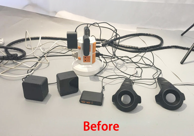 ถูก ความยาว: 10เมตรการจัดเก็บสายไฟสำหรับhtc vive vrสายป้องกันกรณีคอมพิวเตอร์จัดการ-rayอุปกรณ์ท่อสายกระเป๋าปลอก