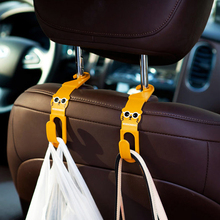 2pcs/lot Multi Use Universal Car Back Seat Headrest Hanger Holder Hook for Bag Purse Cloth Grocery Storage,Auto Fastener, Clip