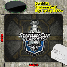 Hot Sale Nice Discount Stanley Cup Playoffs 2010 Laser Anti-Slip Mouse Pad Soft Rubber Mat for Optical Mice(China (Mainland))