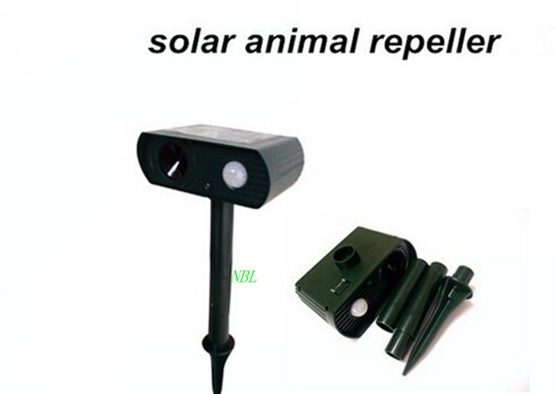 Solar Powered Motion Activated Animal Repeller Ultrasonic Repeller Repellent BirdsDogs Cats Deer Rat Mice Monkey Mole(China (Mainland))