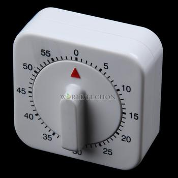 W7Tn Novelty Square 60-Minute Mechanical Timer Reminder Counting for Kitchen