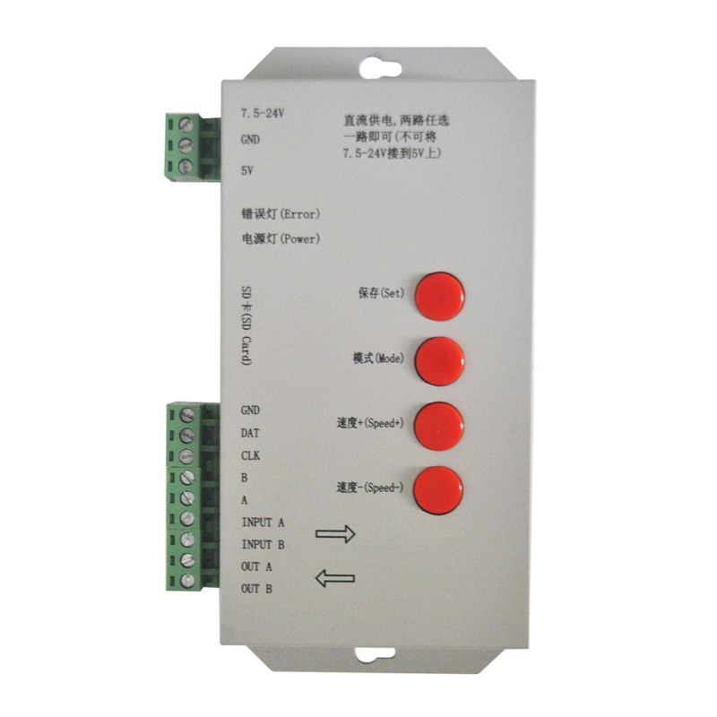 Здесь можно купить  T-1000S sd card  led controller  DC 5-24V Off-line digital rgb dmx  IC controller  Свет и освещение