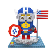 Minions Action Figures Cosplay Iron Man Captain America Thor Hulk Superman Batman Wolverine Minifigures DIY Blocks Gifts
