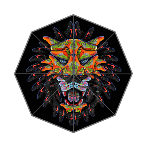 The king of the forest The lion Best Nice Cool Design Portable Fashion Stylish Useful Foldable Umbrella Free Shipping JR-043(China (Mainland))
