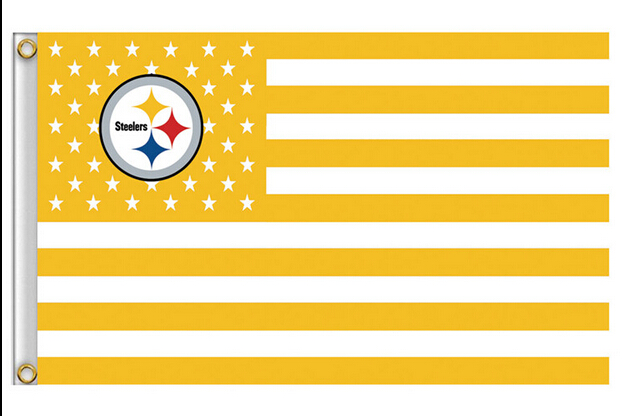 Pittsburgh Steelers NFL Premium Team Flag 3X5FT 90x150cm 100% Polyester free shipping NFL banner(China (Mainland))