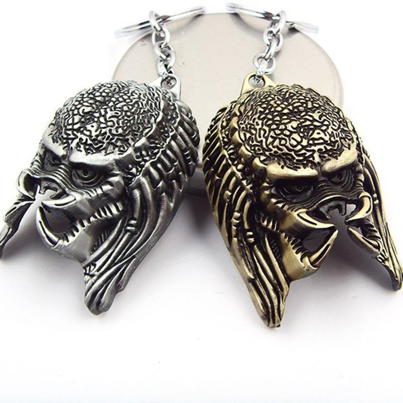 New-AVP-Alien-vs-Predator-The-head-3D-Alloy-pendant-KeyChain-keyring-key-chain-ring-Movie