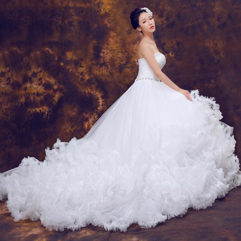 2015 latest korean fairy tale princess bride bra trailing for Bra for wedding dress shopping