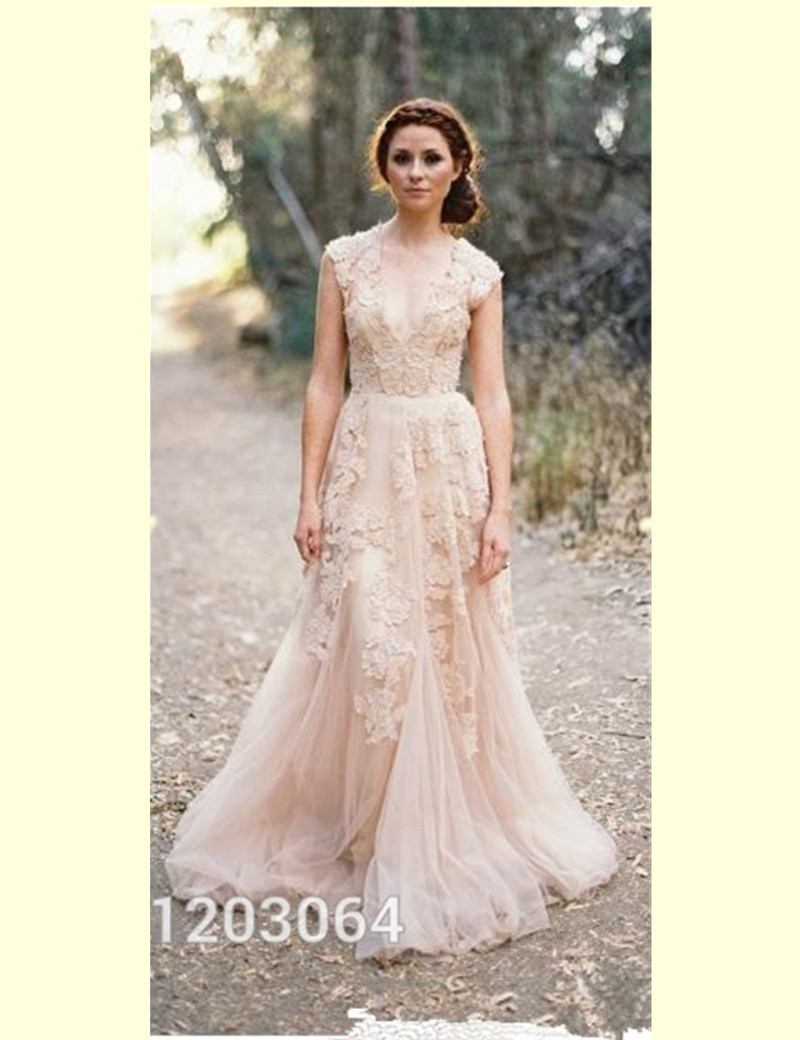Country Western Wedding Dresses With Sleeves Vestidos De