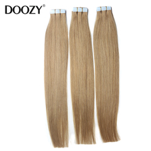 European Remy Tape Hair Extensions 20pcs/set Cuticle Aligned Blonde Skin Weft Tape In Human Hair Extensions(China (Mainland))