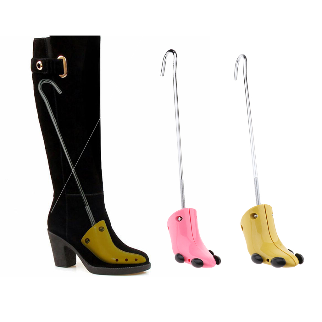 1 Piece Practical Shoe Tree Boots High Heels Stretcher Expander Support Stretcher Shaper for Women Ladies Shoes Pink Yellow