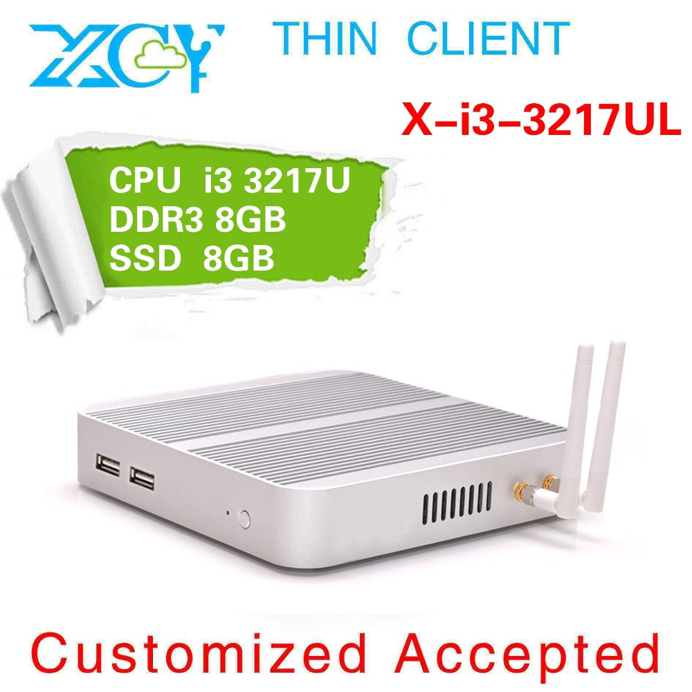High performance but lower power for mini pc x-i3 3217ul 1.8ghz silvery thin micro shell with fanless HDMI+VGA HDtv living pc(China (Mainland))