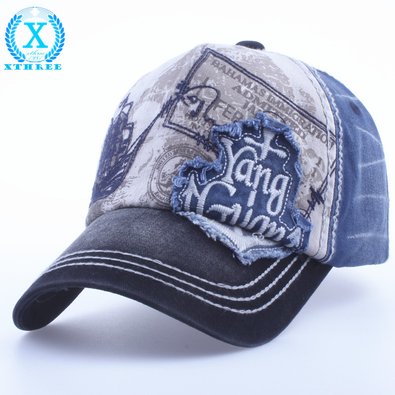 Xthree brand cotton embroidery antique style casquette hat for men women's Baseball Cap Snapback hats(China (Mainland))