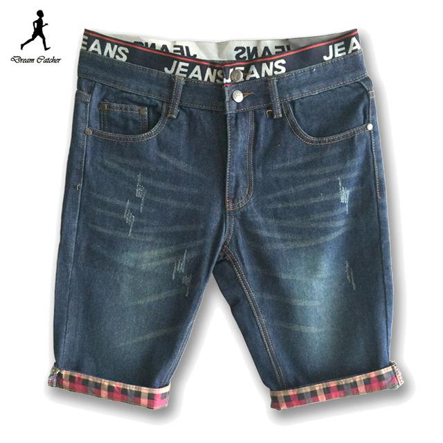 2016 новые люди свободного покроя шорты летние джинсы для мужчин джинсовые шорты ...