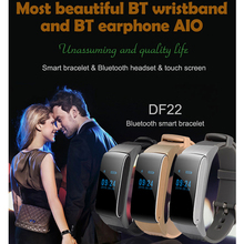 Business and Sports Bluetooth Smart Bracelet Watch Hot DF22 HiFi Sound Headset Digital Wrist Calories Pedometer For IOS Android