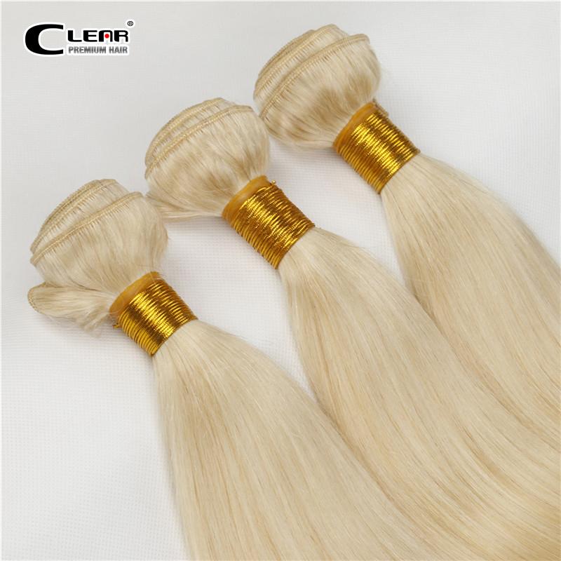 European light blond 613Remy Human Hair weave white Blonde Straight 2/3bundles virgin Hair sew in hair Extension Free Shipping(China (Mainland))