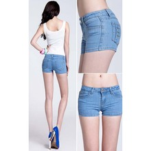Plus Size shorts2016 Fashion Denim Shorts Women skinny Mid Waist Hot Girls shorts female Pockets Button Fly denim shorts jeans