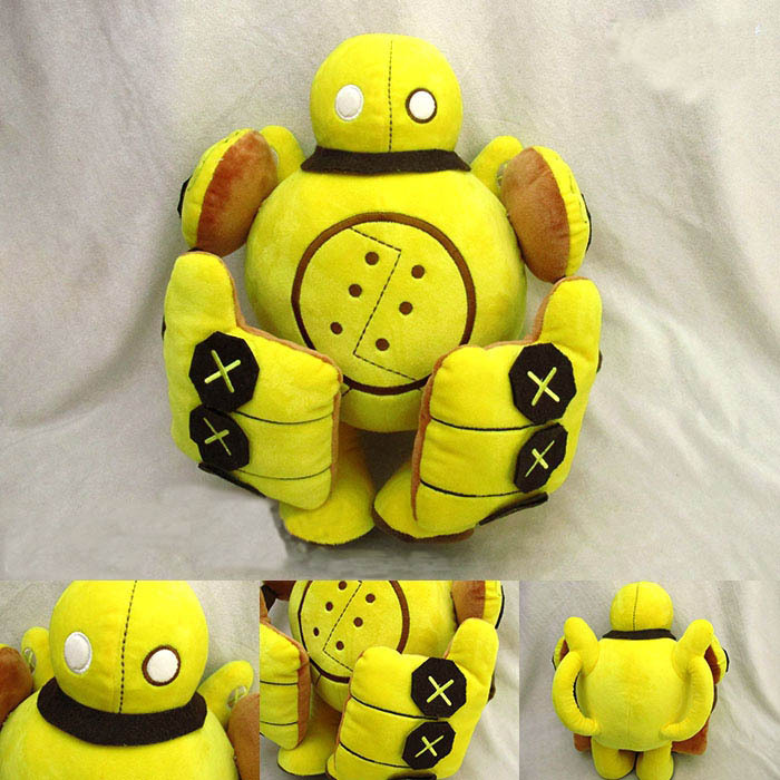 LOL Blitzcrank PlushToysThe Great Steam Golem Robot Toys 36cm Baby Soft Doll PP Cotton Stuffed Toy(China (Mainland))