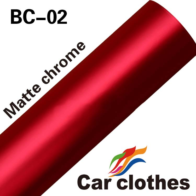 New Styling 152cmx20m Full Body Car Sticker Vinyl Red Color Changing Car Wrap Chrome Matte Film(China (Mainland))