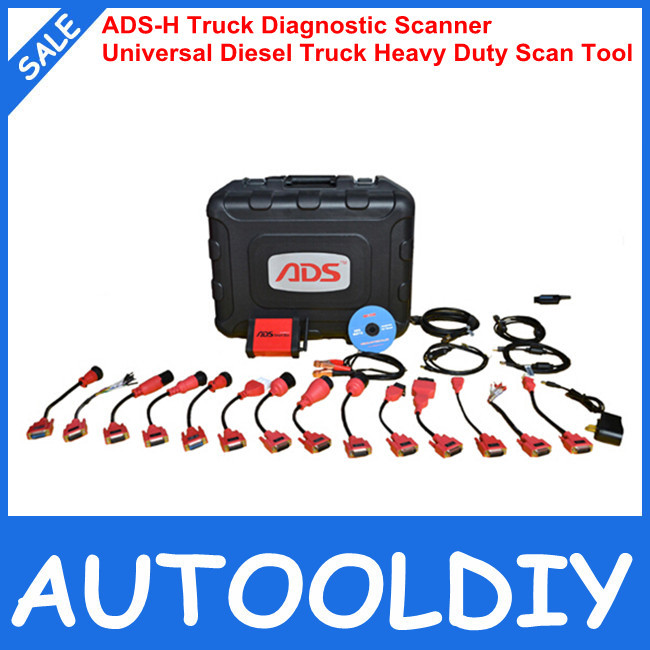2014 Original ADS-H Truck Diagnostic Scanner Based-on PC ADS3100 Universal Diesel Truck Heavy Duty Scan Tool Free Online Update(China (Mainland))
