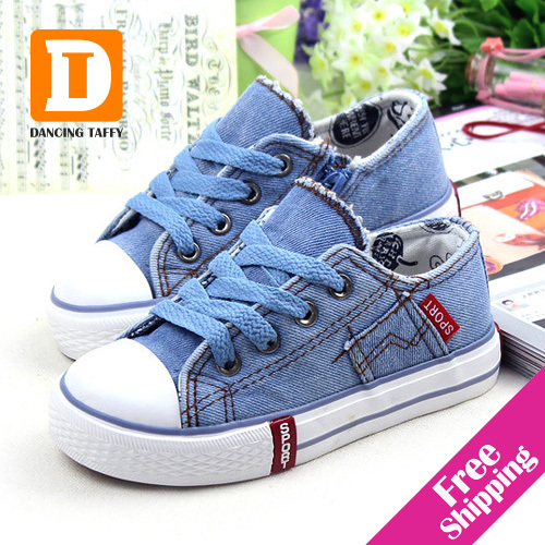 New 2015 Spring Fashion Kids Sneakers Denim Jeans Zip Canvas Boys And Girls Shoes Breathable Casual Low Top Children Shoes<br><br>Aliexpress