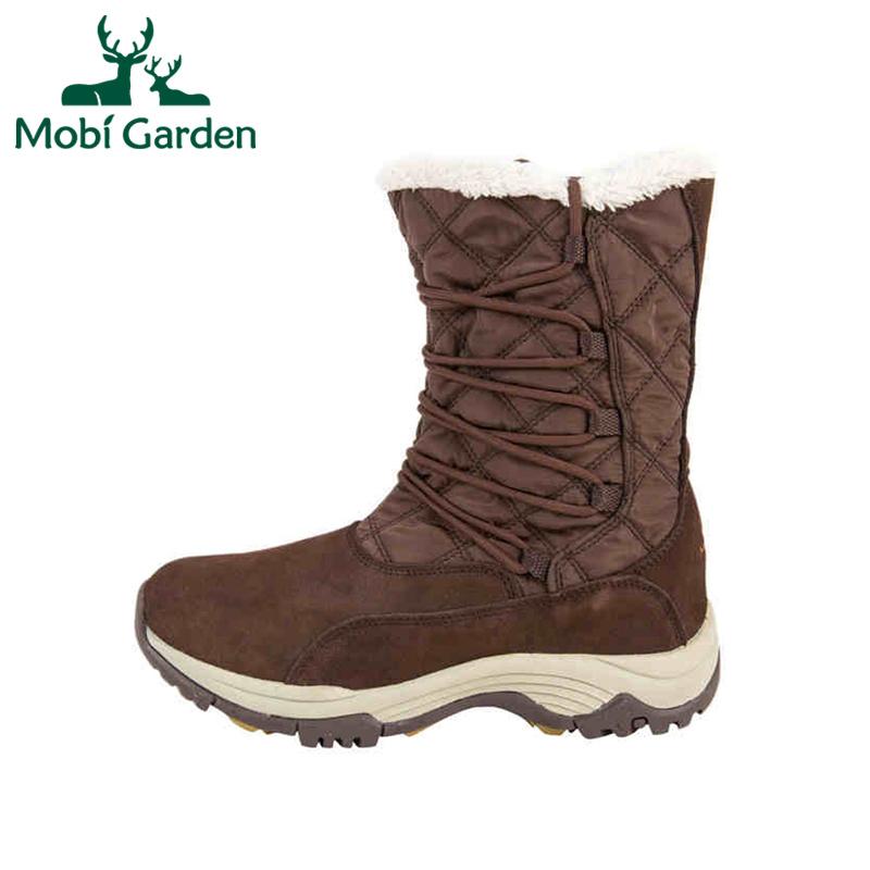 Mobi Garden Autumn Winter Women's Outdoor Warm Snow Climbing Hiking Shoes Boots ZWB1323031 XWX2960