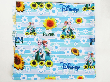 40776 50*147cm patchwork printed cotton fabric cartoon movie character ice princess sisters and flowers fabric for home textile