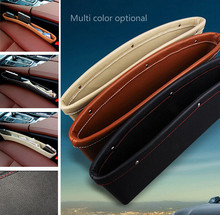 Hot Selling 1 Pcs Black Storage Bags Organizer Box Caddy Car Seat Slit Pocket Car Pouch(China (Mainland))