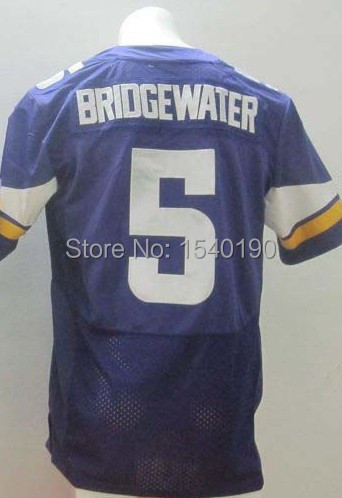 #5 Teddy Bridgewater Elite Football Jersey,Best quality,Authentic Jersey,sports jersey(China (Mainland))