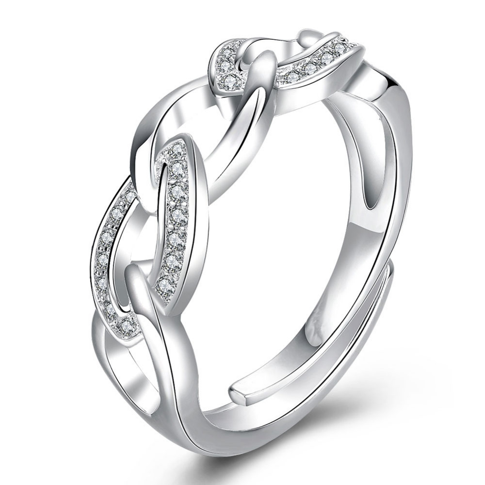 Top Quality Silver Ring for Women Nice Crystal Zircon Gem Wedding Band Ladies Charm Jewelries(China (Mainland))
