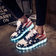 Led luminous shoes women Led shoes for adults Men shoes 2016 fashion Canvas shoes men casual