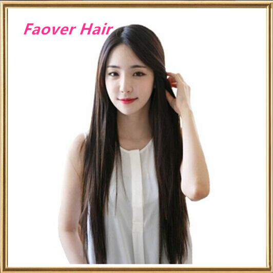 Здесь продается  Free Shipping silky straight synthetic hair lace front wigs ombre Natural Black Color Handtied Kanekalon Hair Wigs 150% density  Волосы и аксессуары
