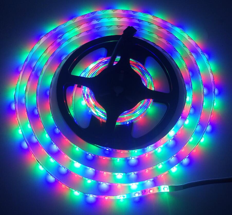 RGB LED Strip 2835 DC12V 5m/lot Flexible LED Light RGB 5050 LED Strip(China (Mainland))
