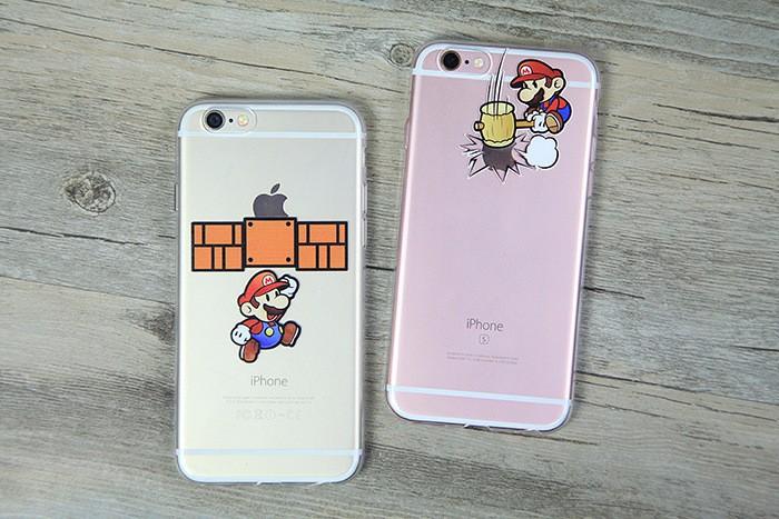 Transparent Clear capa Super Marios soft TPU case etui for apple iphone 5 5G 5S 6 6s 6plus 6splus Fashional cute cartoon cover %