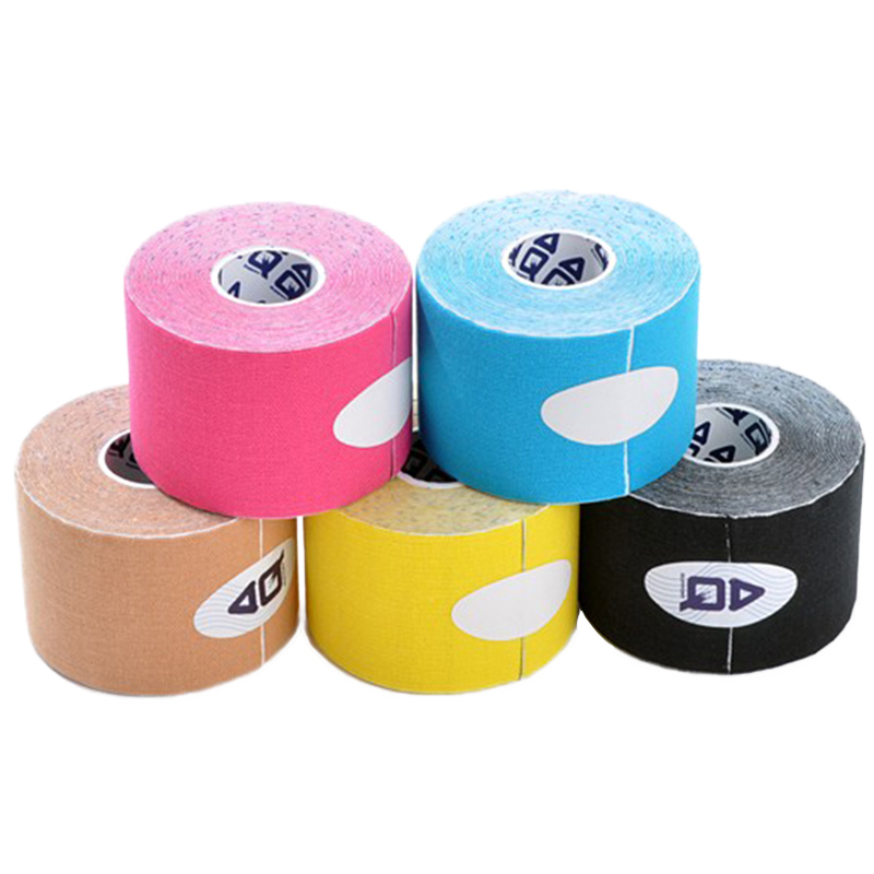 Kinesio Tape 5cm 5m Sport Kinesiology Roll Cotton Elastic Adhesive Muscle Bandage Strain Injury Support Reflective Adhesive Tape(China (Mainland))
