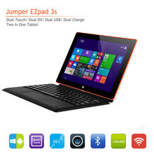 2 In 1 Pc Tablet Dual Boot 10.1 Inch Original Jumper Ezpad 3s Dual OS Quad Core Wifi HDMI Dual Touch Win 8.1 Android 4.4 Z3735F