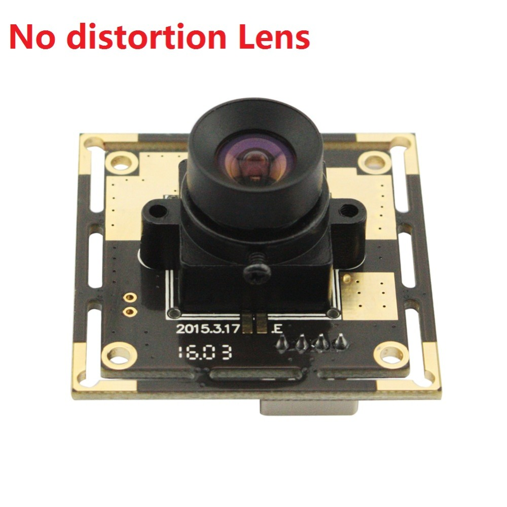 5megapixel CMOS OV5640 MJPEG 100degree no distortion lens 5MP industrial Camera with 1m USB cable for advertising / LED display(China (Mainland))