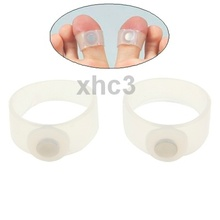 2 Pair of Magnetic Losing Weight Toe Rings White