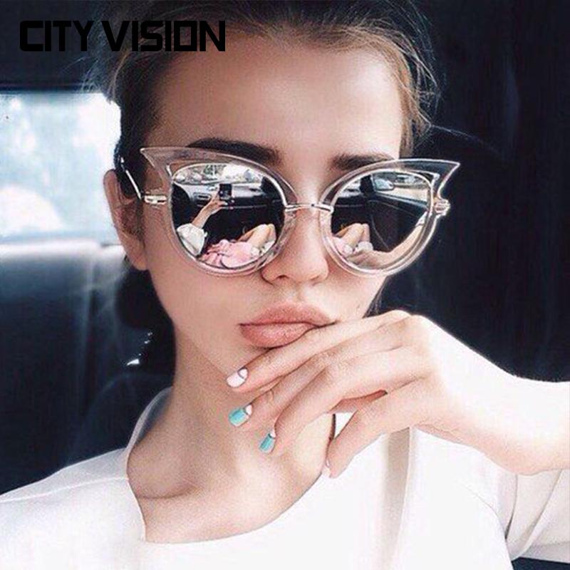 2016 New Cat Eye Sunglasses Women Brand Designer Eyewear oculos de sol feminino Sexy UV400 Shades Female Points sun Glasses(China (Mainland))