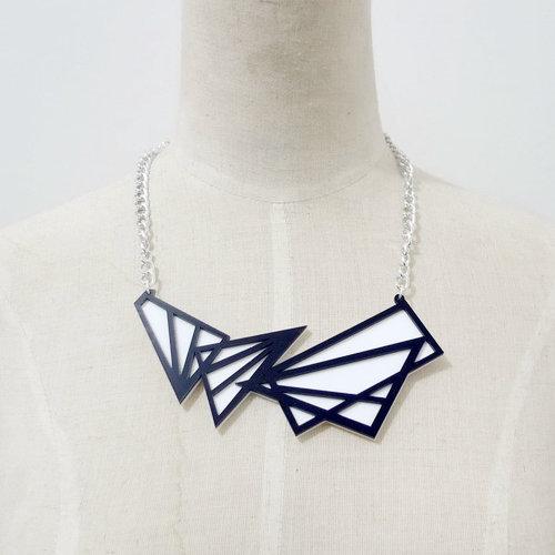 Night Club Dancer Jewelry Accessories Punk Acrylic Choker Geometric Triangle Necklace(China (Mainland))