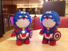High Quality Cat Doraemon Iron Man Captain America 10000mah Power Bank portable battery usb charger For iphone6 samsung s6