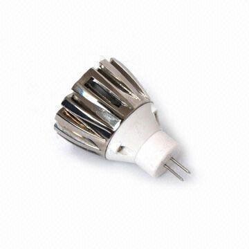 MR11 1*1W led spot light; Bi-pin Base;with DC12V input;size:Dia50*H43mm;white color