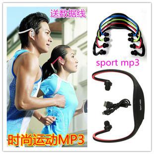 New Wireless Headset Style Sport MP3 Player Wrap Around Wireless Headphone Earphone TF Card Mp3 Music Player(China (Mainland))