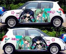 Buy DIY Japanese Anime Hatsune Miku Sticker Car Body Cartoon Stickers Racing Drifting ACGN Decals Itasha G Festa Change Color Film for $90.77 in AliExpress store