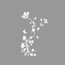 DIY бабочки стикер для холодильника Цветок Искусство Наклейка на стену для холодильника настенные наклейки Детская комната Декор для гостин...(China)